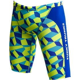 Funky Trunks Training Jammers Boys, blu/giallo